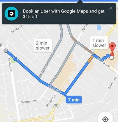 You can now Uber from Google Maps and get a $15 …