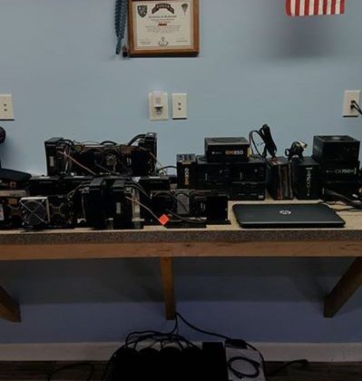 Bitcoin mining setup disassembled …